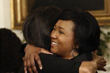 Mar 19, 2009 BLDPF registration. Madam Michelle Obama with Dr Jemison on education